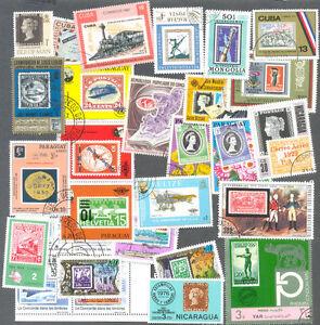 Timbres Sur Timbres Thématiques Packet 100 Tous Différents-afficher Le Titre D'origine