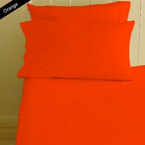 AU-Choice-Bedding-Sheets-Collection-100-Egyptian-Cotton-All-Size-Orange-Solid