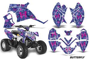 ATV Graphics Kit Quad Decal Wrap For Polaris Predator 90 2003-2007 CAMOPLATE BLK