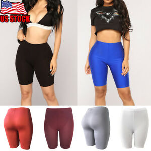 644a4300dd0d6 Women's Leggings Stretch Biker Shorts Workout Spandex New Yoga Pants ...