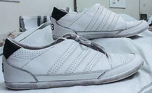 bb0494f7c7db7 Y-3 Yohji Yamamoto Adidas White Leather Low Top Trainers Sneakers ...