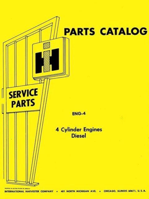 International B-275 B-414 424 2424 3414 3444 444 2444 3514 Engine Part Manual IH