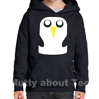 ce16c1e1 Penguin Hoodie Childrens Gunter Adventure Time Jake Christmas Present  3-15yrs | eBay