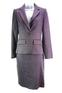 Women S Austin Reed Check Set Of Top And Skirt Suit Size 6 Ebay