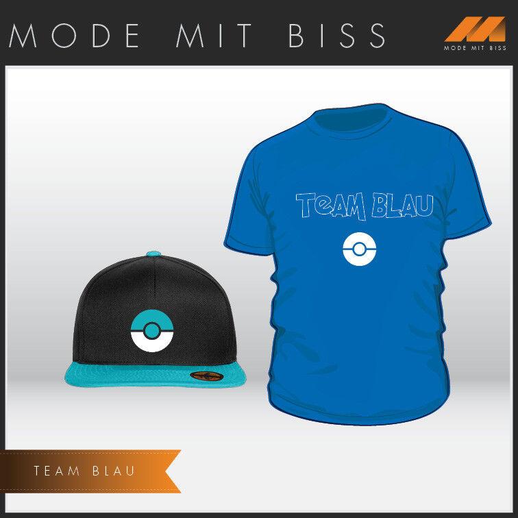 Pokemon Trainer Set Shirt & Cap Team Team Team Blau   Neueste Technologie  df5c57