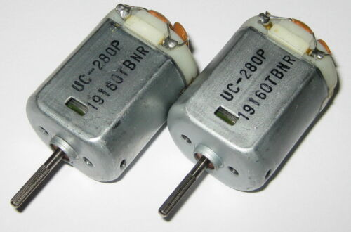 Noise Capacitor 2 X UC-280P 12VDC Electric Automotive DC Motor Knurled Shaft