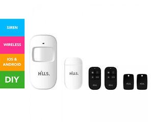 Hills-Wireless-Security-Alarm-DIY-Starter-Kit-White-Black