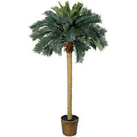 Palm Tree 6 Ft Indoor Silk Potted Plants Tropical Home Decor Office Hawaiian