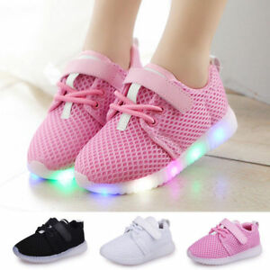 Details About Led Light Up Boys Girls Toddler Luminous Sneakers Kids Casual Sports Shoes