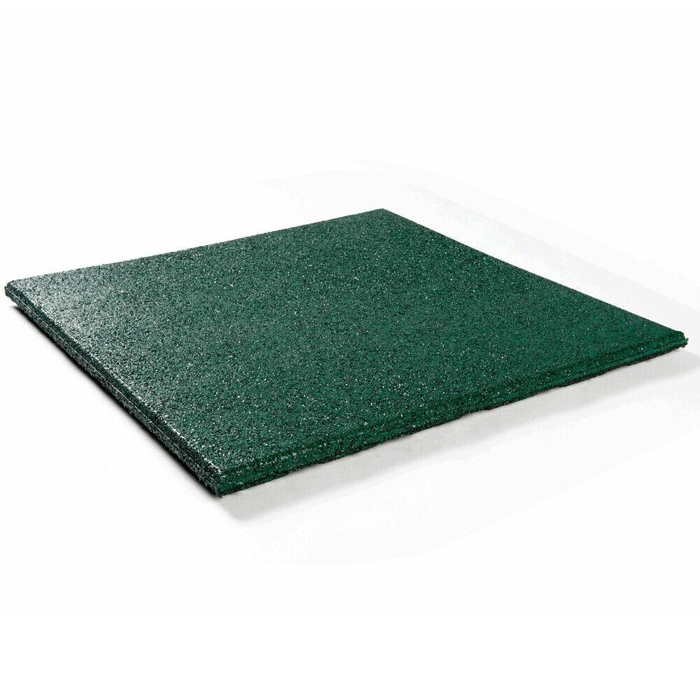 Fallschutzmatten 1m² = 4 Stück 500x500x25mm Gummifliesen Sicherheitsmatten grün