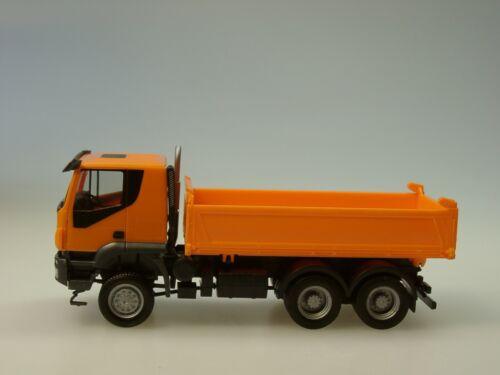 kommunal orange Herpa Iveco Trakker 6x6 Baukipper-LKW 309998-1:87