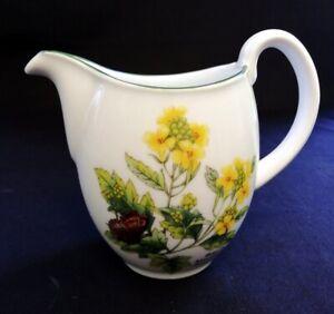 VTG Porcelain Worcester Herbs Jug Black Mustard And Parsley | FREE Delivery UK*