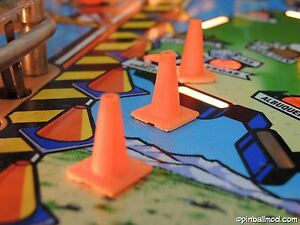 Red-amp-Ted-039-s-Road-Show-Pinball-6-x-traffic-cones-pinball-flipper-mod