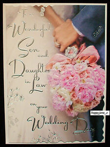 Image Is Loading Luxury Wedding Day Card To A Son And