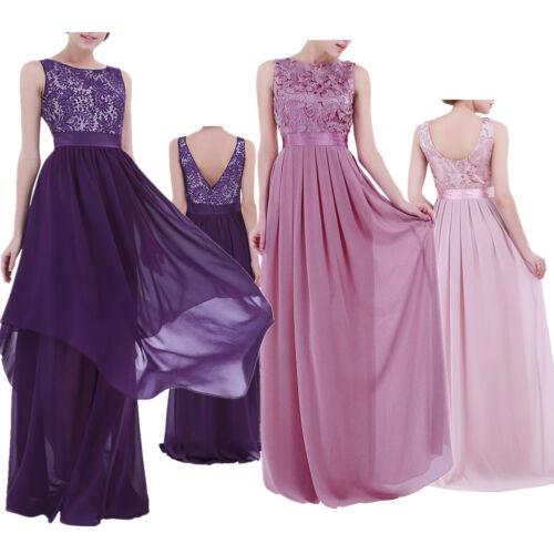 Femme Long Prom Dentelle formelle soirée cocktail demoiselles d/'honneur Robes Full Dress