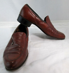 Florsheim-Men-039-s-Loafer-9D-Tan-Brown-Leather-Upper-amp-Sole