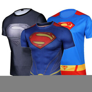 Boys mens super hero superman quick dry t shirts marvel Boys superhero t shirts