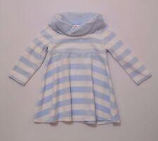 "Gymboree ""Girls Best Friend"" Cowl Turtleneck Blue White Striped Velour Dress, 2T"