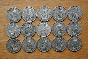 English-Shillings-1937-to-1951-all-Selected-Circulated-choose-your-date