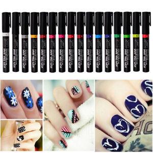 16-Colores-Manicura-Rotulador-para-3d-Decoracion-Unas-Esmalte-de-Set-Pinceles
