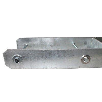 (8,99€/stk.) H-pfostenträger 115x600x5,0mm Mit Schrauben