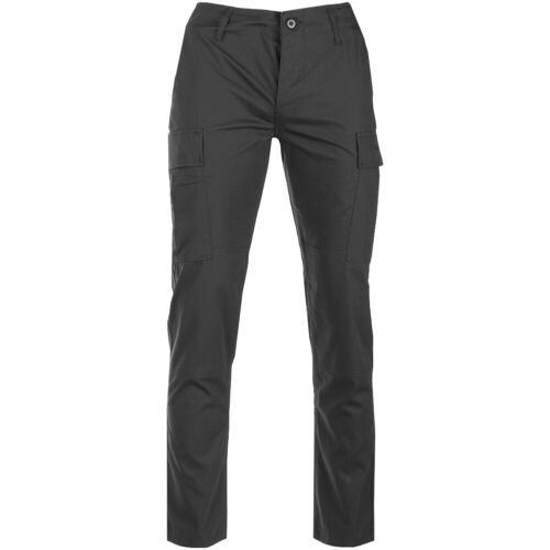 Teesar US BDU Trousers Ripstop SlimFit Pants Uniform Mens Combat Military Black