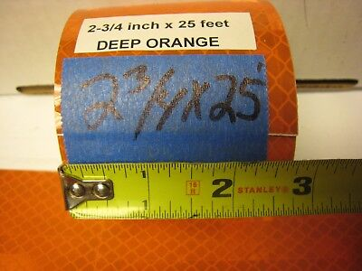 """NEON ORANGE  Reflective   Conspicuity  Tape  4/"""" x 25 feet   Thick"""