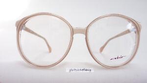 Brillenfassungen Kleidung & Accessoires Vintagebrille Brille Fassung Damen Große Gläser Kunststoff Hell 70er Grösse M