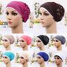 Women Muslim Stretch Turban Hat Chemo Cap Hair Loss Head Scarf Wrap Hijib Cap