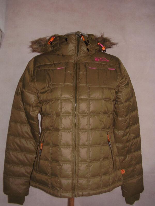 """brunotti"" Damen Kinder Jacke Winterjacke Steppjacke Fellkapuze Army-grün Gr.xs,"