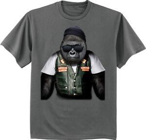 c2256f16 Big and Tall t-shirt for men biker gorilla design mens tall tee king ...