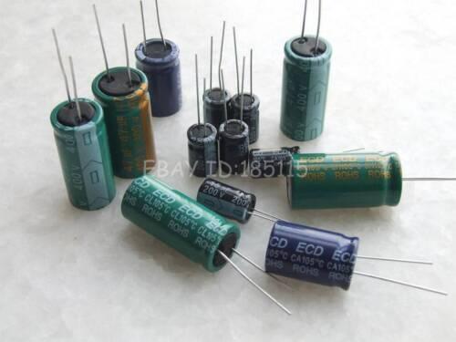 20PCS 25V 2200uF 25Volt 2200MFD Electrolytic Capacitor 10mm×25mm
