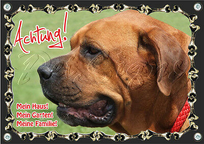 Broholmer - Hunde Warnschild - Top Qualität - Wetterbeständig Belebende Durchblutung Und Schmerzen Stoppen