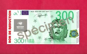 Imitation billet de 300 euros - Che Guevara - Publicité New Deal - Cartonné