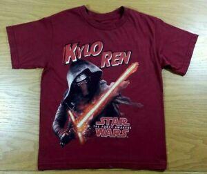 Star Wars Logo Boys Tee Shirt Size Small 6-7 Kylo Ren