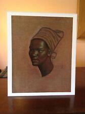 ORIGINAL RARE Tretchikoff Zulu Maiden 1960s - Vintage Kitsch Art Print