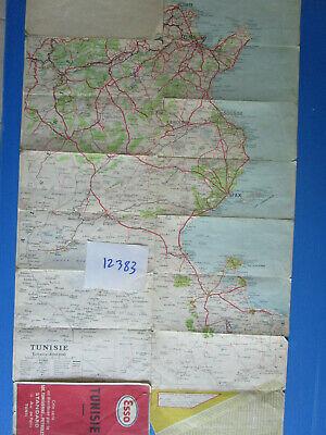 N°12383 / Esso Rare Carte Routiére De La Tunisie 1948 Texte Français Prijs Blijft Stabiel