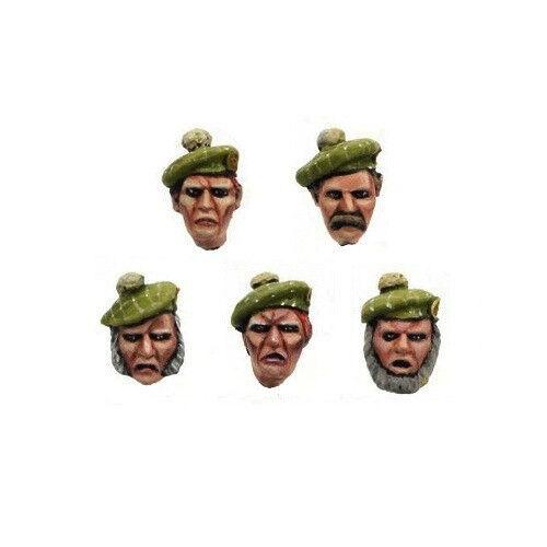 Iron Empire Scots 10 Soldiers Heads Highlander Bitz