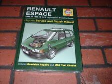 NEW & SEALED HAYNES MANUAL FOR RENAULT ESPACE.1985-1996. C-N REGISTRATION.