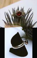Schmuck-stck Ring 925 Silber Granat Neu S Facetten 18 56