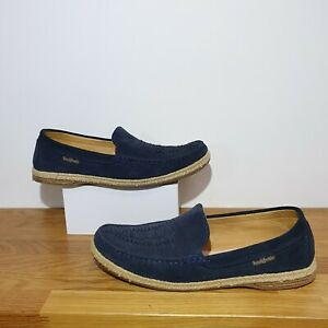 195-RUSSELL-amp-BROMLEY-Navy-Blue-Suede-Leather-Loafers-Flats-shoes-8-Espadrilles