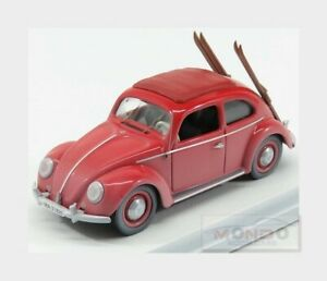 Volkswagen Beetle Kafer With Ski 1953 Red RIO 1:43 RIO4561 Model