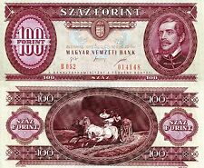 HUNGARY 100 Forintd Banknote World Paper Money UNC Currency Pick p-174c Bill