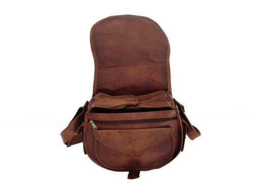 Vintage Leather DSLR Camera Bag Messenger Canon Nikon SLR Crossbody Shoulder
