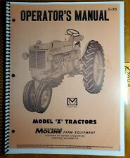 Minneapolis Moline Model Z Zb Tractor Owners Operators Manual S 170