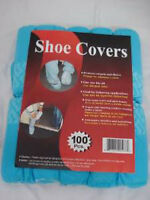 Disposable Polypropylene Shoe Covers L 100-pack Painting Construction Cleaning