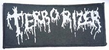 """Terrorizer """"Logo"""" Woven Patch - OFFICIAL world downfall hordes of zombies"""