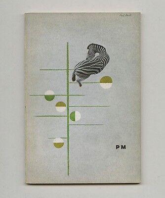 1938 Paul Rand P-M MAGAZINE Rare Original Graphic Design + Typography Journal