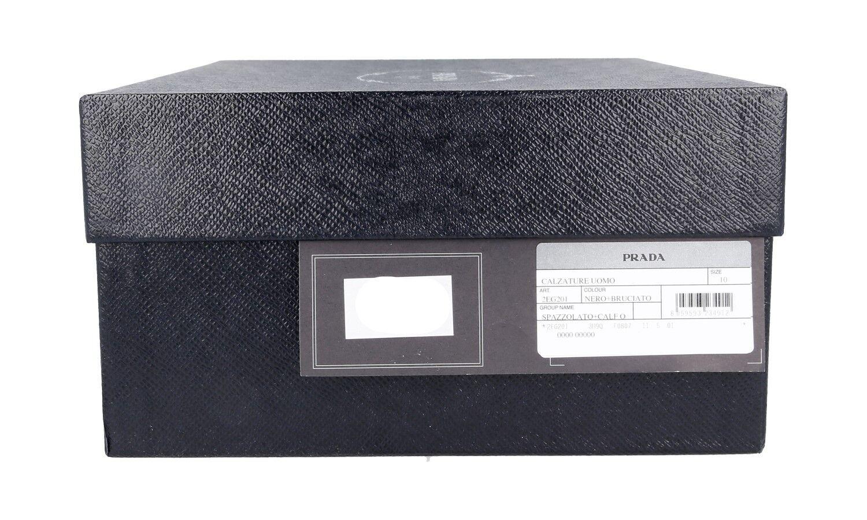 FANCY PRADA OXFORD BALMORAL BALMORAL OXFORD CAP TOE SHOES 2EG201 BLACK BROWN US 11 3afbdf