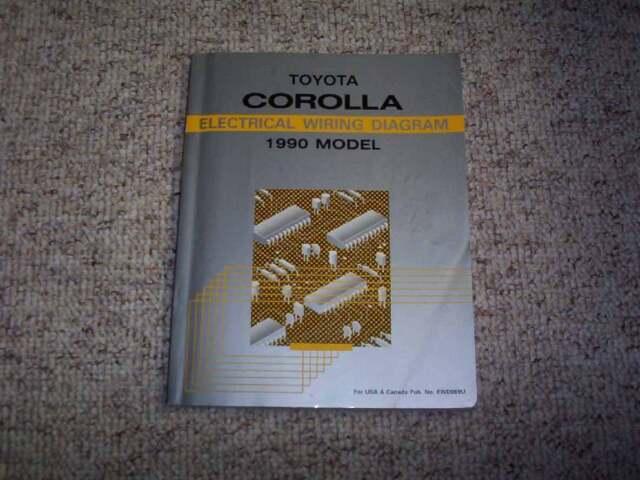 1990 Toyota Corolla Electrical Wiring Diagram Manual Dx